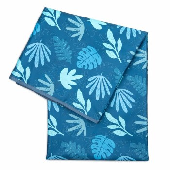 Bumkins Splat Mat Blue Tropic