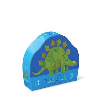 Crocodile Creek 12 Piece Mini Puzzle Stompin Stegosaurus