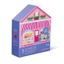 Crocodile Creek 24 Piece Two-Sided Puzzle Sweet Shop