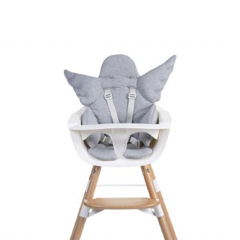 Childhome Highchair Angel Wings Cushion in Jersey Gray