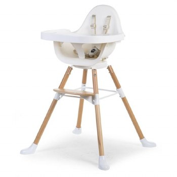 Childhome Evolu One.80 High Chair Natural White
