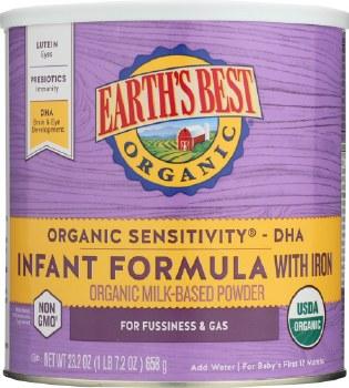 Earth's Best Organic Sensitivity Infant Formula with Iron