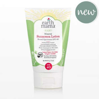 Earth Mama Mineral Baby Sunscreen Lotion SPF 40