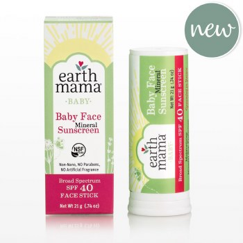 Earth Mama Mineral Baby Sunscreen Stick SPF 40