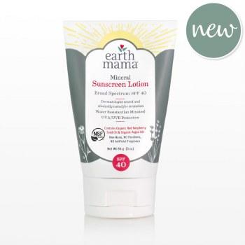 Earth Mama Mineral Sunscreen Lotion SPF 40