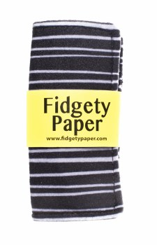 Fidgety Paper Small - Black/Gray