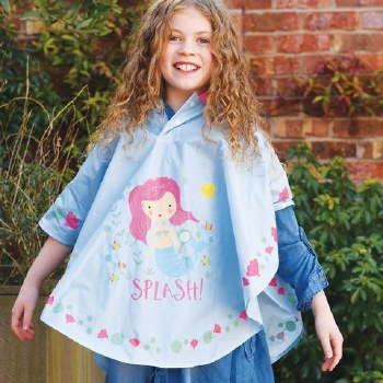 Floss and Rock Colour Changing Poncho Mermaid