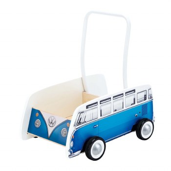 Hape Bus Walker Blue