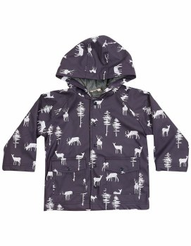 Korango French Terry Lined Little Stag Raincoat