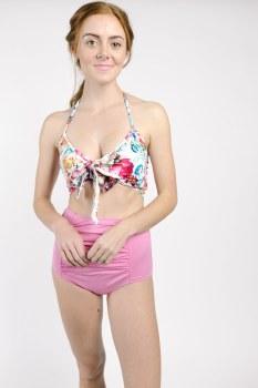 Kortni Jeane Ruched Bottoms Pink S