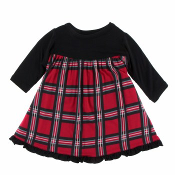 Kickee Pants Holiday Long Sleeve Swing Dress Christmas Plaid 2019 3-6m
