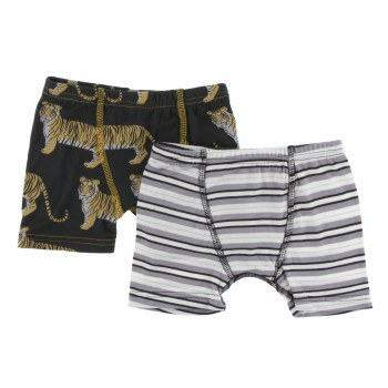 Kickee Pants India  Boxers Zebra Tiger/India Pure Stripe
