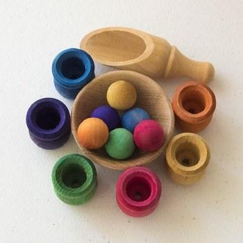 Bean Pot and Ball Sorting Set