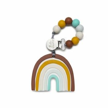 LouLou Lollipop Neutral Rainbow Teether Set