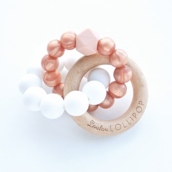 LouLou Lollipop Trinity Wood & Silicone Teether