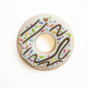 Loulou Lollipop Mint Donut Silicone Teether