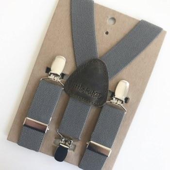 Little Mister Charcoal Suspenders M