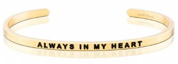 MantraBand Always In My Heart Yellow Gold
