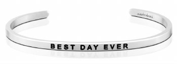 MantraBand Best Day Ever Silver