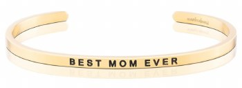 MantraBand Best Mom Ever Yellow Gold