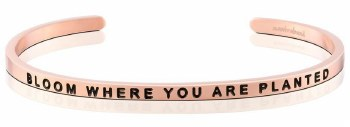 MantraBand Bloom Where You Are Planted Rose Gold