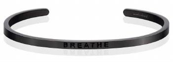 MantraBand Breathe Moon Gray