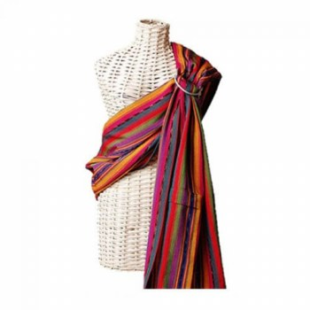 Maya Wrap Comfort Fit Ring Sling in Bright Stripes