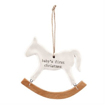 MudPie Babys 1st Xmas Horse Ornament
