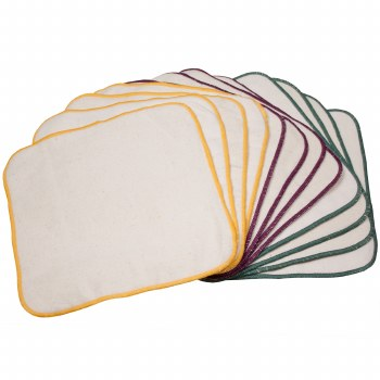 OsoCozy Double Sided Terry/Flannel Wipes 12 Pack