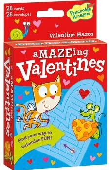 Peaceable Kingdom Maze Valentines
