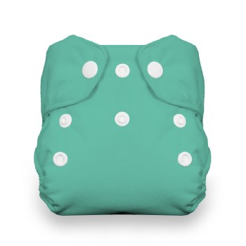 Thirsties Natural One Size All-In-One Snap Aqua