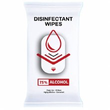 10-Pack Single Use Disinfectant Wipes