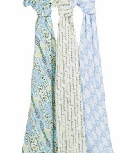 aden + anais Silky Solf Swaddle 3-Pack - Wild One