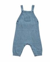 Angel Dear Blue Knit Overall 3-6m