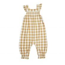 Angel Dear Gingham Honey Smocked Front Coverall