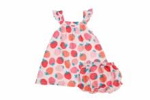 Angel Dear Strawberries Sundress & Diaper Cover