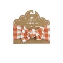 Angel Dear Gingham Pumpkin Headband 0-12m
