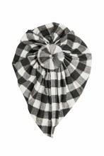 Angel Dear Black & White Gingham Headwrap