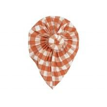 Angel Dear Gingham Pumpkin Headwrap