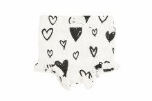 Angel Dear Black & White Hearts High-Waisted Shorts