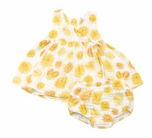 Angel Dear Kimono Dress Sunshine 6-12