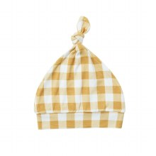Angel Dear Gingham Honey Knotted Hat