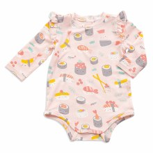 Angel Dear Long Sleeve Sushi Pink Bodysuit
