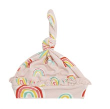 Angel Dear Rainbow Ruffle Knot Hat Pink