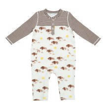 Angel Dear Bison Romper With Pockets