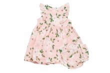 Angel Dear Ruffle Dress and Diaper Cover in Magnolias 6-12