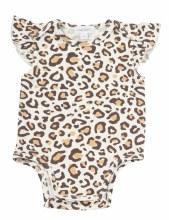 Angel Dear Ruffle Sleeve Onesie Leopard 6-12