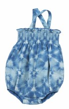 Angel Dear Smock Sunsuit Indigo Shibori 0-3