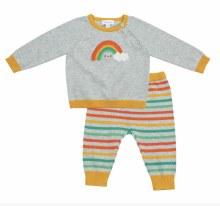 Angel Dear Rainbow Vintage Knit Sweater Set