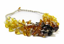 "The Amber Monkey Adult 17-18"" Necklace Falls Linen"